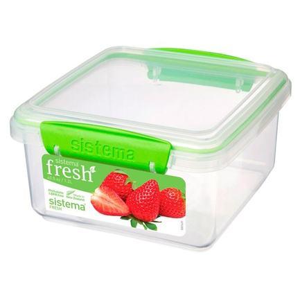 Контейнер Fresh (1.2 л), 15.5х15х8 см, зеленый 951650 Sistema контейнер fresh двойной 2 л 23 5х17х9 см зеленый 951720 sistema