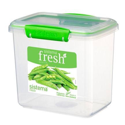Контейнер Fresh (1.9 л), высокий, 17.3х11.7х15.9 см, зеленый 951680 Sistema контейнер fresh двойной 2 л 23 5х17х9 см зеленый 951720 sistema