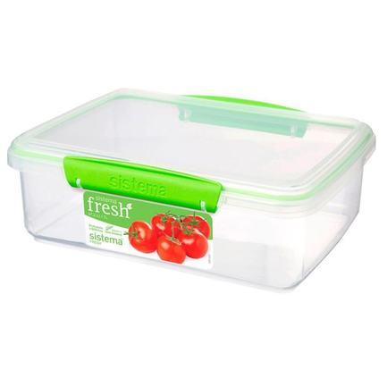 Контейнер Fresh (2 л), 23.5х17х8 см, зеленый 951700 Sistema контейнер fresh двойной 2 л 23 5х17х9 см зеленый 951720 sistema