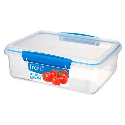 Контейнер Fresh (2 л), 23.5х17х8 см, голубой 921700 Sistema контейнер fresh двойной 2 л 23 5х17х9 см зеленый 951720 sistema