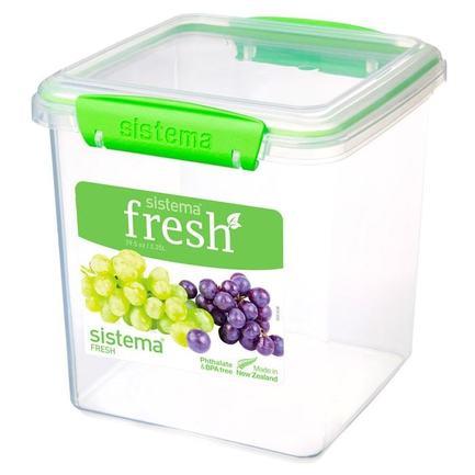 Контейнер для печенья Fresh (2.35 л), 14.9х15.4х16.3 см, зеленый 951334 Sistema контейнер fresh двойной 2 л 23 5х17х9 см зеленый 951720 sistema