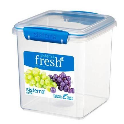 контейнер для печенья sistema 1 8 л 1333 Контейнер для печенья Fresh (2.35 л), 14.9х15.4х16.3 см, голубой 921334 Sistema