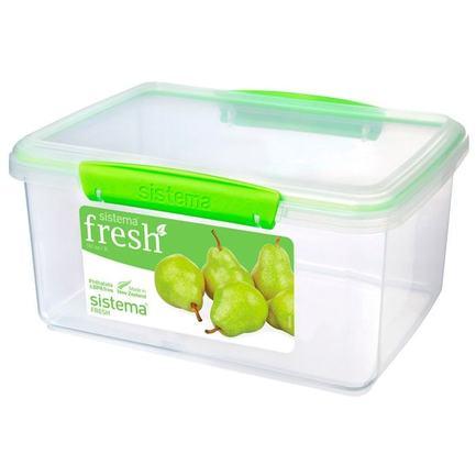 Контейнер Fresh (3 л), 23.5х17х12 см, зеленый 951830 Sistema контейнер fresh двойной 2 л 23 5х17х9 см зеленый 951720 sistema