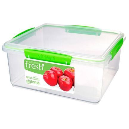 Контейнер Fresh (5 л), 26.5х23.5х12 см, зеленый 951850 Sistema контейнер fresh двойной 2 л 23 5х17х9 см зеленый 951720 sistema
