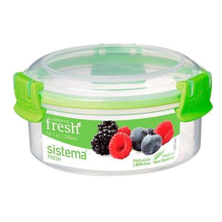 Контейнер круглый Fresh (300 мл), зеленый 951303 Sistema ссд