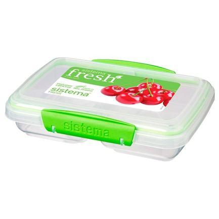 Контейнер Fresh двойной (350 мл), 17.5х11.5х4.2 см, зеленый 951517 Sistema контейнер fresh двойной 2 л 23 5х17х9 см зеленый 951720 sistema