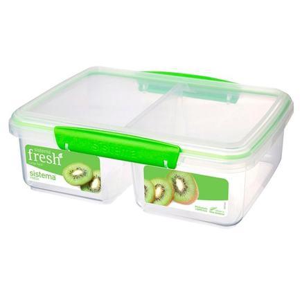 Контейнер Fresh двойной (2 л), 23.5х17х9 см, зеленый 951720 Sistema контейнер fresh двойной 2 л 23 5х17х9 см зеленый 951720 sistema