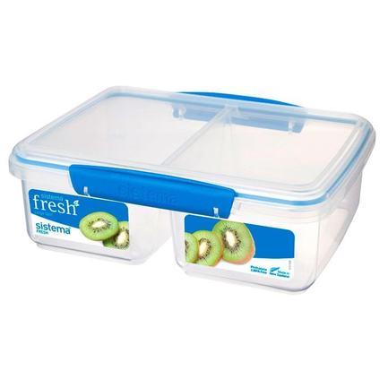 Контейнер Fresh двойной (2 л), 23.5х17х9 см, голубой 921720 Sistema контейнер fresh двойной 2 л 23 5х17х9 см зеленый 951720 sistema