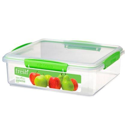 Контейнер Fresh (3.5 л), 26.4х23.8х8.5 см, зеленый 951851 Sistema контейнер fresh двойной 2 л 23 5х17х9 см зеленый 951720 sistema