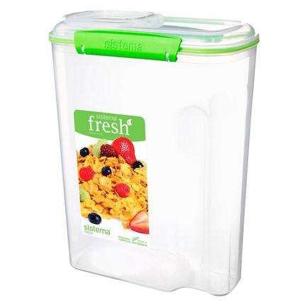 Контейнер для хлопьев Fresh (4.2 л), 21.5х11х28.5 см, зеленый 951450 Sistema контейнер fresh двойной 2 л 23 5х17х9 см зеленый 951720 sistema