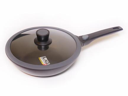 SKK Сковорода-вок Induction Light, 28 см, со стеклянной крышкой 14975 SKK