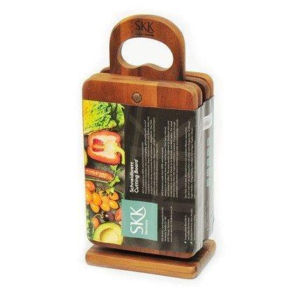 SKK Набор разделочных досок на деревянной подстаке, 21х14х1 см, 4 шт ACA-015/4 SKK сумка printio путин like
