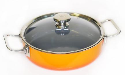 SKK Сотейник Enameled Steel (5 л), 28 см, со стеклянной крышкой 12128O/28211 SKK