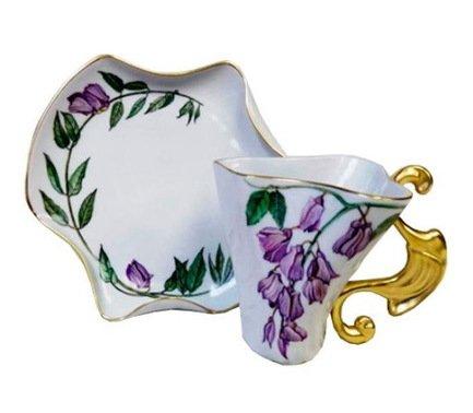 Чашка Dali (0.15 л) с блюдцем 46120425-240Nk Rudolf Kampf чашка чайная dali с блюдцем 46120425 1001 rudolf kampf