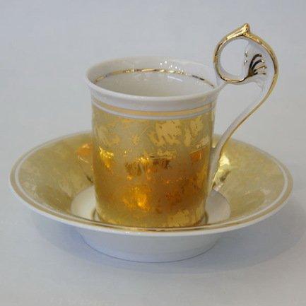 Rudolf Kampf Чашка высокая Tete-a-tete (0.15 л) с блюдцем 40120414-D859k Rudolf Kampf rudolf kampf чашка чайная dali с блюдцем 46120425 1001 rudolf kampf