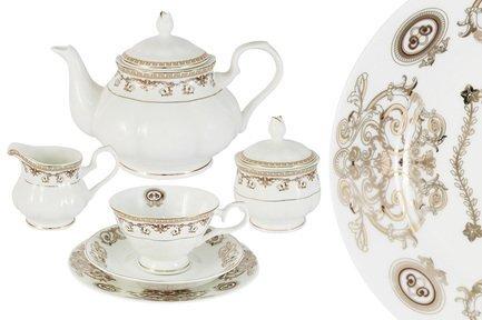 Emerald Чайный сервиз Версаче Золотой на 12 персон, 40 пр. E5-15-54_40-AL Emerald чайный сервиз emerald розовые цветы из 40 ка предметов e5 hv004011 40 al
