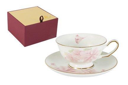 Emerald Чашка Розовые цветы 02 л с блюдцем E5HV004011CSAL Emerald