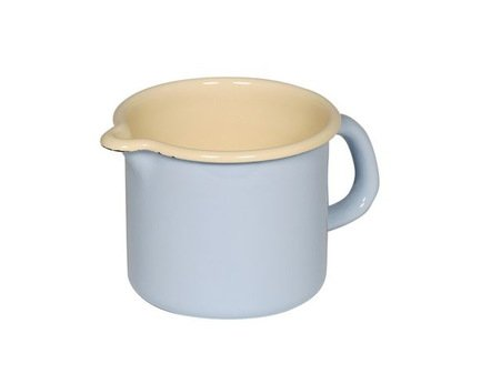 Riess Кружка цилиндрическая Pastell (0.5 л), с носиком 0038-006 Riess riess кастрюля цилиндрическая pastell 2 л 20 см с эмалированной крышкой 0280 006 riess
