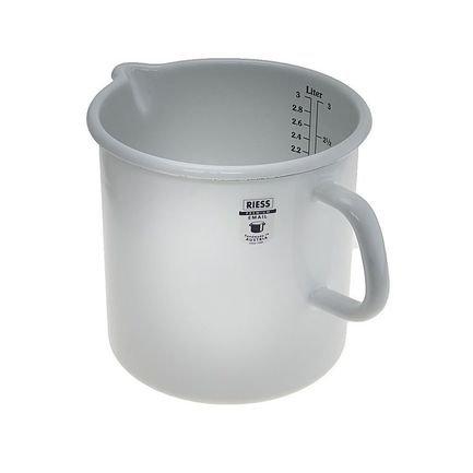 Фото - Кружка мерная цилиндрическая Weiss (3 л), с носиком 0350-033 Riess кружка коническая light pink 0 75 л с носиком 0671 062 riess