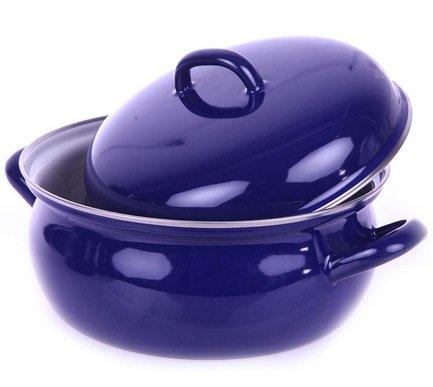 Кастрюля сферическая Blau (3 л), 22 см, с эмалированной крышкой