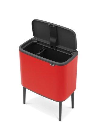 Brabantia Мусорный бак Touch Bin Bo (11 л + 23 л), Пламенно-красный 316104 Brabantia цена