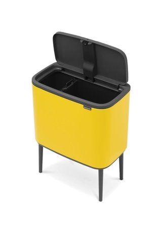 Brabantia Мусорный бак Touch Bin Bo (11 л + 23 л), Желтая маргаритка 316128