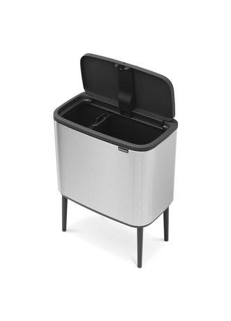 Brabantia Мусорный бак Touch Bin Bo (11 л + 23 л), Стальной матовый (Fingerprint Proof) 316227 Brabantia brabantia мусорный бак touch bin 20л 29 5х51 5см стальной 415920 brabantia
