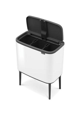 Brabantia Мусорный бак Touch Bin Bo (3 х 11 л), Белый 313523