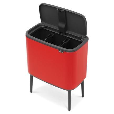 Brabantia Мусорный бак Touch Bin Bo (11 л + 23 л), Пламенно-красный 316005 Brabantia цена
