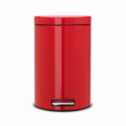 Brabantia Ведро для мусора с педалью (12 л), красный 105982 Brabantia ведро для мусора plastic centre с педалью цвет серо голубой белый 6 л