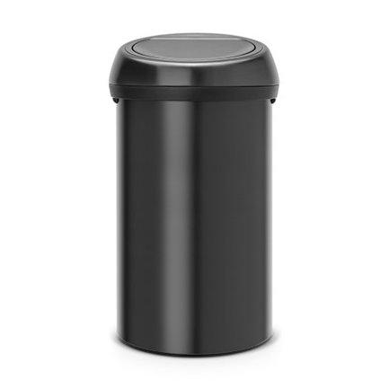 Brabantia Мусорный бак Touch Bin (60 л), черный 402562 Brabantia brabantia мусорный бак touch bin 25 л 72 5х26 5х26 5 см 384929 brabantia