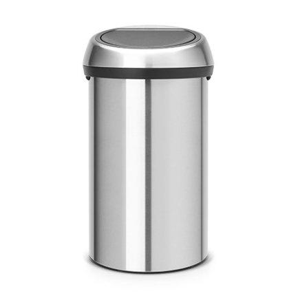 Brabantia Мусорный бак Touch Bin (60 л), стальной матовый 484506 Brabantia бак мусорный idea цвет зеленый 60 л м 2393