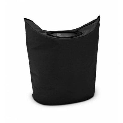 Brabantia Сумка для белья овальная (50 л), черная 101601 Brabantia черная кожаная сумка для документов с теснением dr koffer b216170 02 04