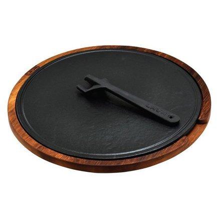 LAVA Литая чугунная форма для пиццы, 34 см со съемной ручкой и подставкой LVHRCHP34AS262IR LAVA форма для пиццы cs kochsysteme steinfurt 37x33 см