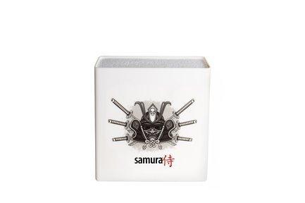 Samura Подставка универсальная для ножей Hypercube, 23 см, белая KBH-101S1/K Samura samura подставка универсальная для ножей hypercube 23 см белая kbh 101bw k samura