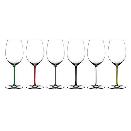 Riedel Набор фужеров Cabernet Merlot (625 мл), хрустальное стекло с разноцветными ножками, 6 шт. 7900-0 Riedel набор фужеров cuvee 6 штук объем 475 мл 1020892