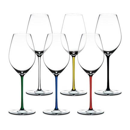 Набор фужеров Champagne Glass (445 мл), с разноцветными ножками, хрустальное стекло, 6 шт. 7900/28 Riedel набор фужеров riedel h2o whisky стекло 430 мл 2 шт в подарочной упаковке