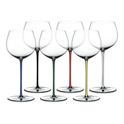 Набор фужеров Oaked Chardonnay (620 мл), с разноцветными ножками, хрустальное стекло, 6 шт. 7900/97 Riedel набор фужеров riedel h2o whisky стекло 430 мл 2 шт в подарочной упаковке