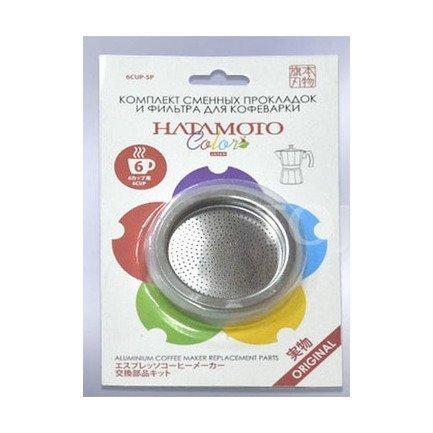 Hatamoto Комплект сменных прокладок и фильтр для кофеварки Hatamoto 6CUP-SP 6CUP-SP Hatamoto reinz 01 37045 01 reinz комплект прокладок двигатель