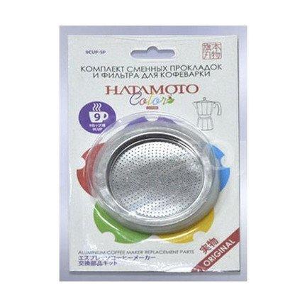 Hatamoto Комплект сменных прокладок и фильтр для кофеварки Hatamoto 9CUP-SP 9CUP-SP Hatamoto reinz 01 37045 01 reinz комплект прокладок двигатель