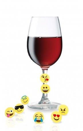Vin Bouquet Маркеры для бокалов Смайлики, на клипсе, 8 шт FIA 148 Vin Bouquet vin bouquet набор каплеуловителей колец 2 шт fia 009 vin bouquet