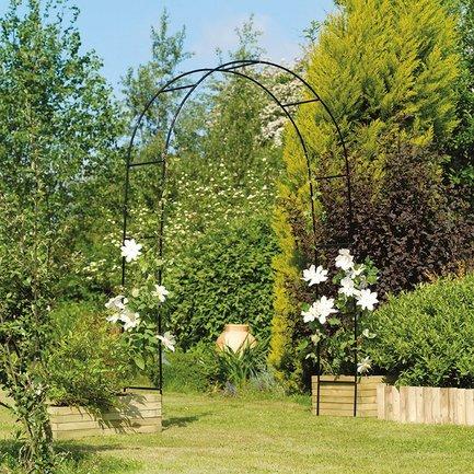 Gardman Арка садовая Easy, 240х140 см, черная 07707 Gardman арка садовая декоративная grinda классика 422249