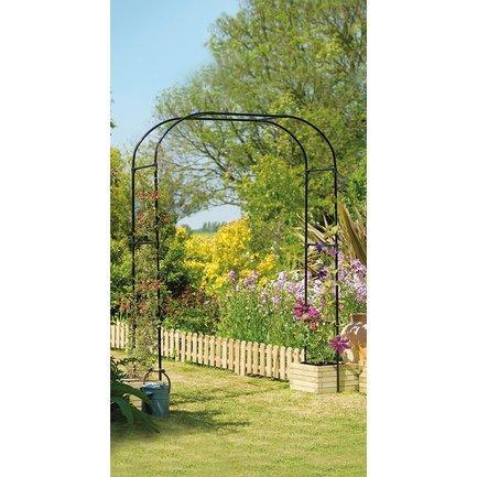 Gardman Арка садовая Extra Wide, 230х152 см, черная 07725 Gardman садовая техника кайман