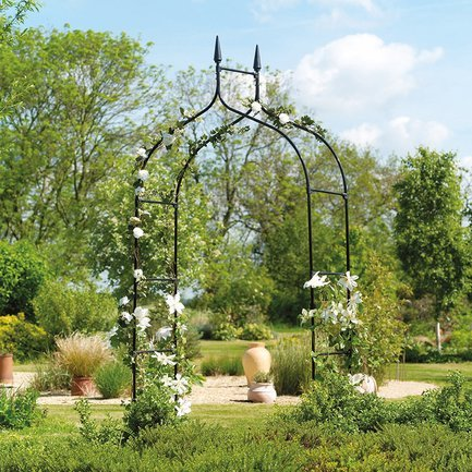 Gardman Арка садовая Gothic, 295х140 см, черная 07730 Gardman арка металлическая 90 см