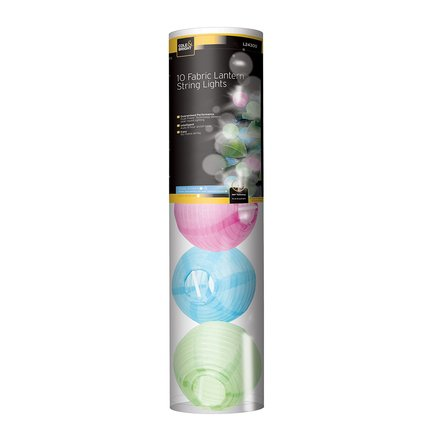 Gardman Гирлянда уличная Fabric Lantern, 10 разноцветных LED L24300 Gardman