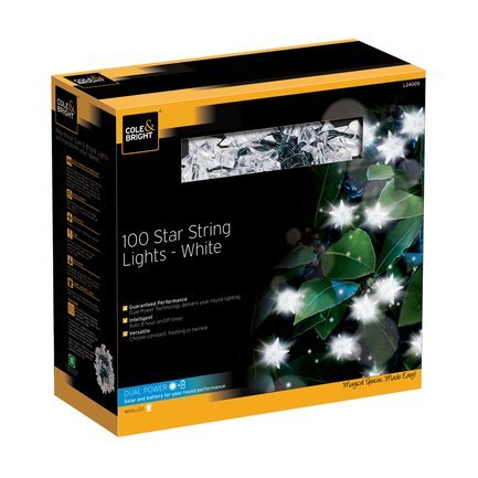 Gardman Гирлянда уличная Star String Lights, 100 белых LED L24005D Gardman 50 led string lights battery operated light strips