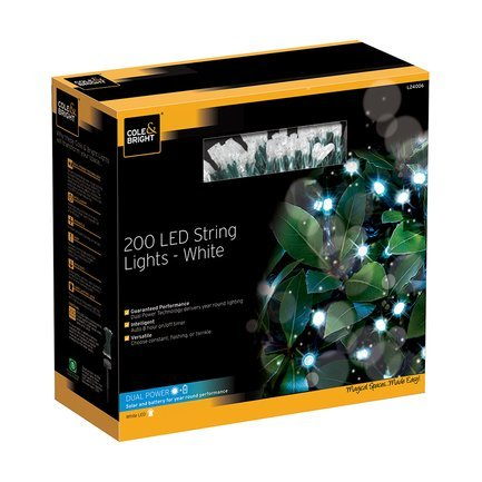Gardman Гирлянда уличная String Lights, 200 белых LED L24006 Gardman 50 led string lights battery operated light strips