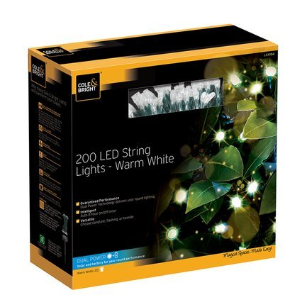 Gardman Гирлянда уличная String Lights, 200 теплых белых LED L24104 Gardman 50 led string lights battery operated light strips