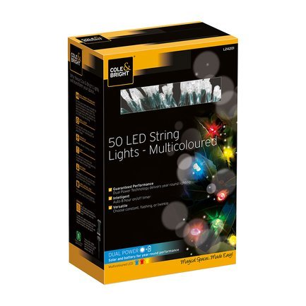 Gardman Гирлянда уличная String Lights, 50 разноцветных LED L24201 Gardman 50 led string lights battery operated light strips