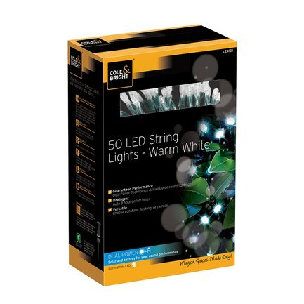 Gardman Гирлянда уличная String Lights, 50 теплых белых LED L24101 Gardman 50 led string lights battery operated light strips